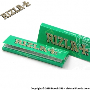 RIZLA CARTINA VERDE CORTA SINGOLA GREEN REGULAR - 1 LIBRETTO DA 50 CARTINE 0,29 €