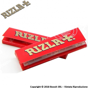 RIZLA CARTINA ROSSA CORTA SINGOLA RED REGULAR - 1 LIBRETTO DA 50 CARTINE