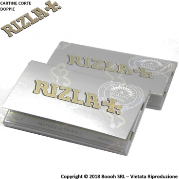 RIZLA CARTINE DOUBLE ARGENTO CORTE DOPPIE SILVER - 1 LIBRETTO DA 100 CARTINE