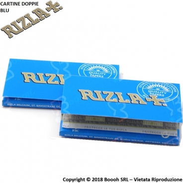 CARTINE RIZLA DOPPIE BLU CORTE DOUBLE - 1 LIBRETTO