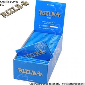 CARTINE RIZLA DOPPIE BLU CORTE DOUBLE -BOX DA 25 LIBRETTI 12,99 €