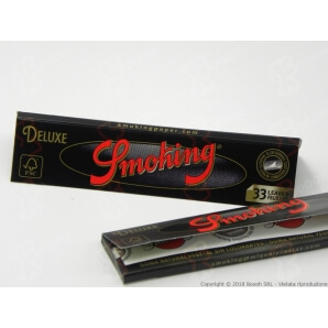 CARTINE SMOKING NERE DE LUXE KING SIZE SLIM BLACK LUNGHE - LIBRETTO 0,69 €