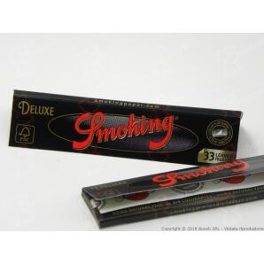 CARTINE SMOKING NERE DE LUXE KING SIZE SLIM BLACK LUNGHE - LIBRETTO 0,69€