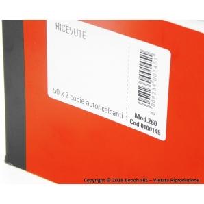 BLOCCO RICEVUTE GENERICHE CON CARTA AUTOCOPIATIVA PER DUPLICE COPIA - BLOCCHETTO DA 50 X 2 FOGLI 1,99€