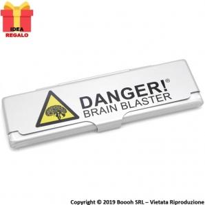 PORTA CARTINE IN METALLO : BOX DANGER! BRAIN BLASTER 2,09€