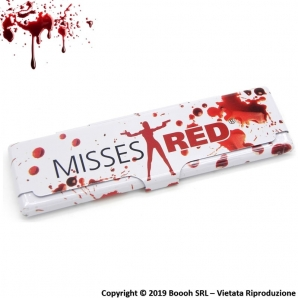 PORTA CARTINE IN METALLO : MISSES RED BLOOD 2,09 €