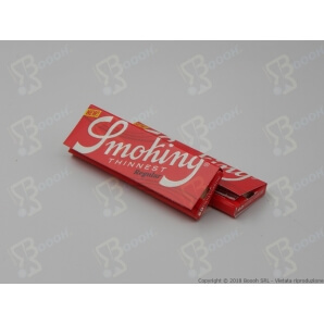 SMOKING CARTINE SOTTILI THINNEST CORTE SINGOLE - 1 LIBRETTO DA 60 CARTINE 0,37 €
