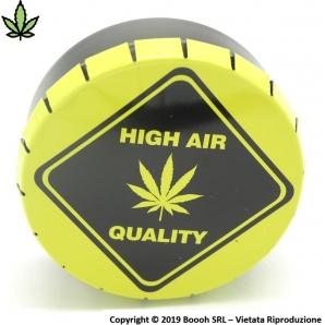 HIGH AIR QUALITY SCATOLA CLICK-CLACK (Ø 5,5 CM) - BARATTOLO PORTA INFIORESCENZE DI CANAPA O TABACCO 3,09€