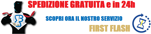 Banner Spedizione Gratuita con Servizio Firs Flash by Boooh.it