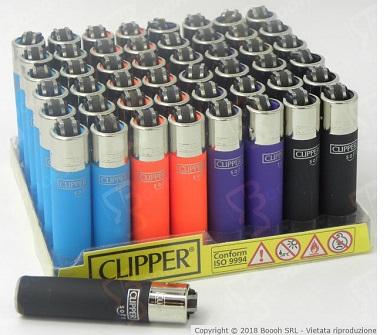 Immagine di proprietà della Boooh Srl. Accendini Clipper Micro Soft Touch Multicolore