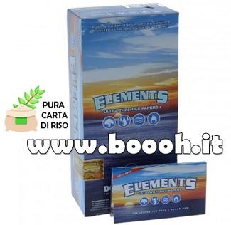 CARTINE CORTE DOPPIE ELEMENTS DOUBLE SINGLE WIDE - BOX DA 25 LIBRETTI in vendita su Boooh.it footer