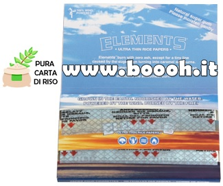 CARTINE CORTE ELEMENTS DOPPIE - LIBRETTO DOUBLE SINGLE WIDE IN VENDITA SU BOOOH.IT footer