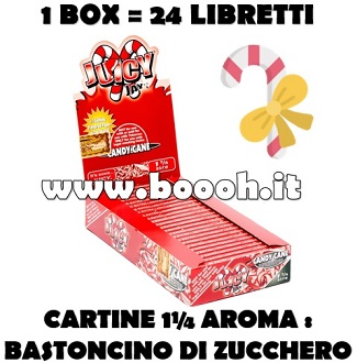 CARTINE CORTE JUICY JAY'S 1¼ FRAGRANZA CANDY CANE - BOX 24 LIBRETTI FOOTER