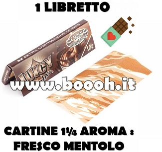 CARTINE CORTE JUICY JAY'S SINGOLE 1¼ AROMA CIOCCOLATO - MILK CHOCOLATE - LIBRETTO SINGOLO footer