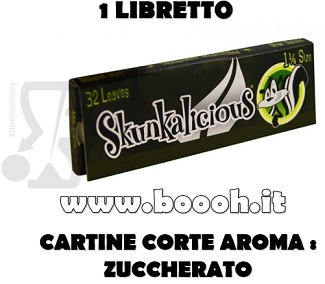 CARTINE CORTE SKUNKALICIOUS SINGOLE 1¼ - LIBRETTO SINGOLO in vendita su Boooh.it FOOTER