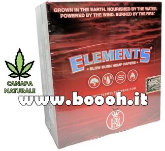 CARTINE ELEMENTS RED KS SLIM - BOX DA 50 LIBRETTI in vendita su Boooh.it FOOTER