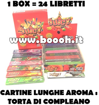 CARTINE LUNGHE JUICY JAY'S KING SIZE MIX N ROLL - BOX 24 LIBRETTI in vendita su Boooh.it Footer