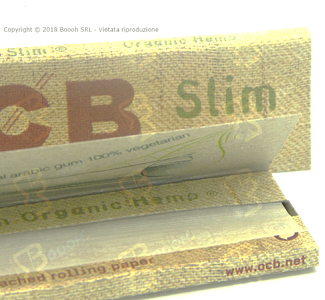 CARTINE OCB ORGANIC HEMP KING SIZE SLIM CANAPA BIOLOGICA LUNGHE - LIBRETTO in vendita su Boooh.it foooter