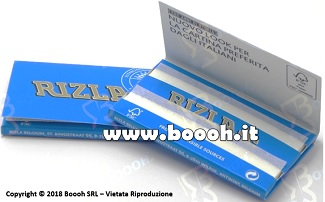 CARTINE RIZLA DOPPIE BLU CORTE DOUBLE - BOX DA 25 LIBRETTI FOOTER 2