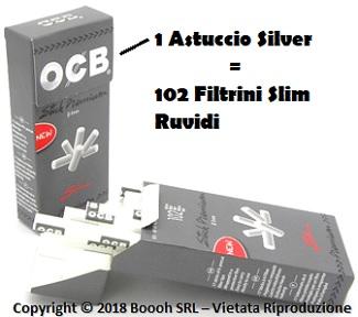 Filtri Slim Ruvidi Ocb Silver - Astuccio in Vendita su Boooh.it