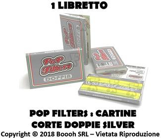 POP FILTERS CARTINE DOPPIE SILVER CORTE REGULAR MINI POP - LIBRETTO in vendita su Boooh.it footer