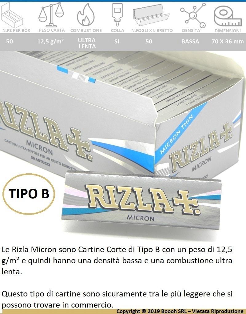 500 Cartine RIZLA BLU Corte 10 Libretti Sfusi