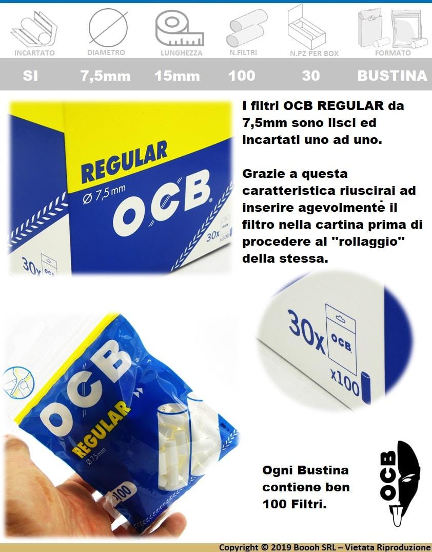 OCB-FILTRI-REGULAR-8mm-LISCI-SPUGNA-BOX-30-BUSTINE-BANNER-DESCRIZIONE
