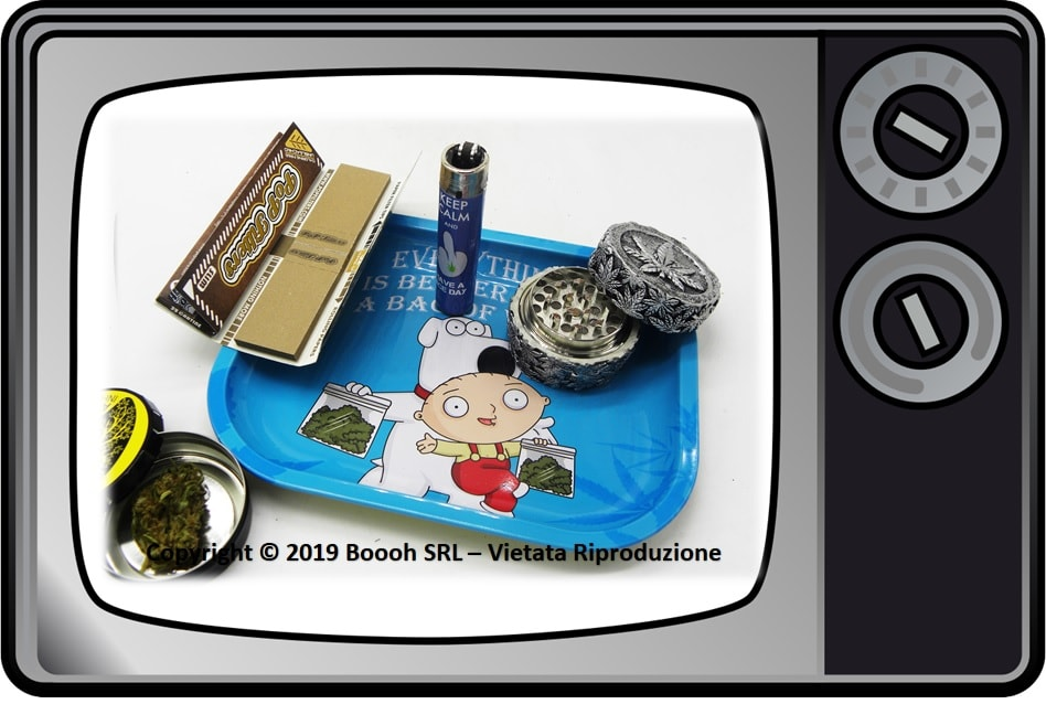 VASSOIO PER ROLLARE STEWIE E BRIAN GRIFFIN IDEA REGALO - PROFESSIONAL SMALL ROLLING TRAY by SMOKE ARSENAL - BANNER DESCRIZIONE