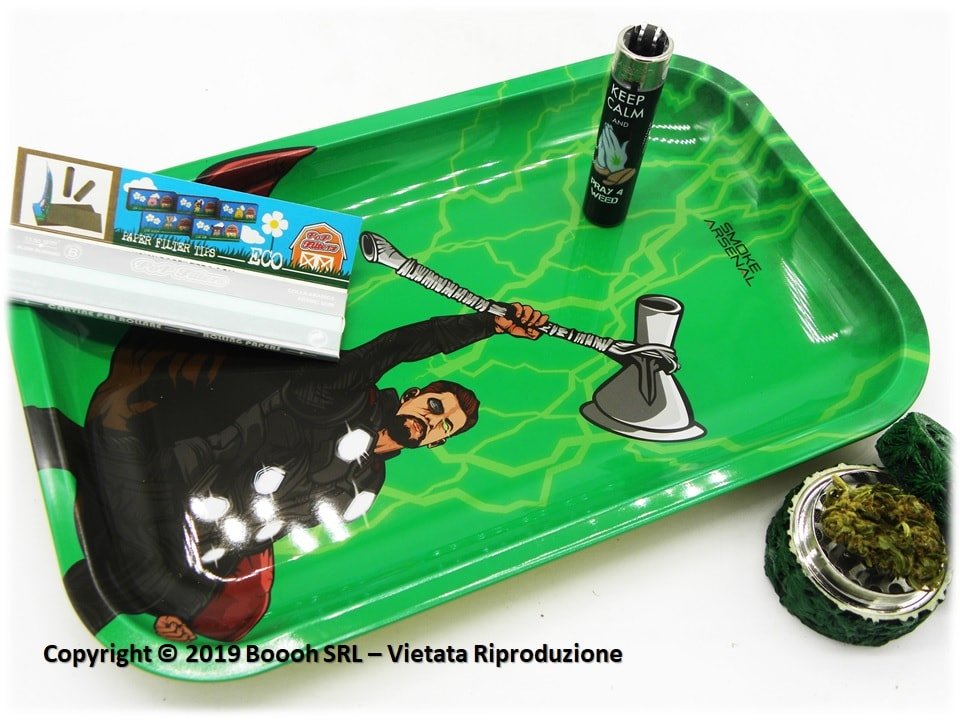 VASSOIO PER ROLLARE THOR STORM BONGER - IDEA REGALO - PROFESSIONAL MEDIUM ROLLING TRAY by SMOKE ARSENAL - BANNER DESCRIZIONE