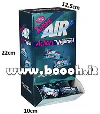 CHEWING GUM AIR ACTION VIGORSOL EXTREME GOMME DA MASTICARE MONO - BOX DA 250 MONODOSI IN VENDITA SU BOOOH.IT FOOTER