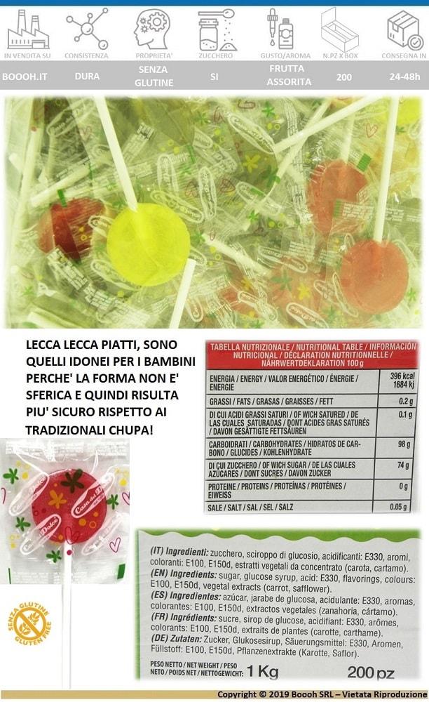 LECCA LECCA PIATTO GUSTI ASSORTITI SENZA GLUTINE - CONFEZIONE DA 200 MAGIC LOLLIPOPS - BANNER DESCRIZIONE