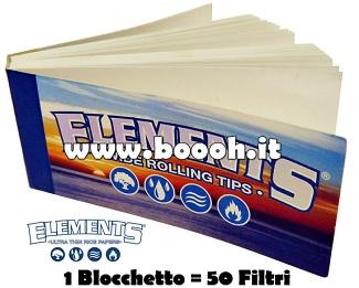 FILTRI IN CARTA ELEMENTS CLASSICI - BLOCCHETTO SINGOLO TIPS WIDE IN VENDITA SU BOOOH.IT footer