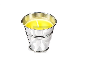 Candela citronella da pavimento,giardino o tavolo ,da esterni o interni, per decorare o per zanzare in vasetto zinco,alluminio _Boooh.it