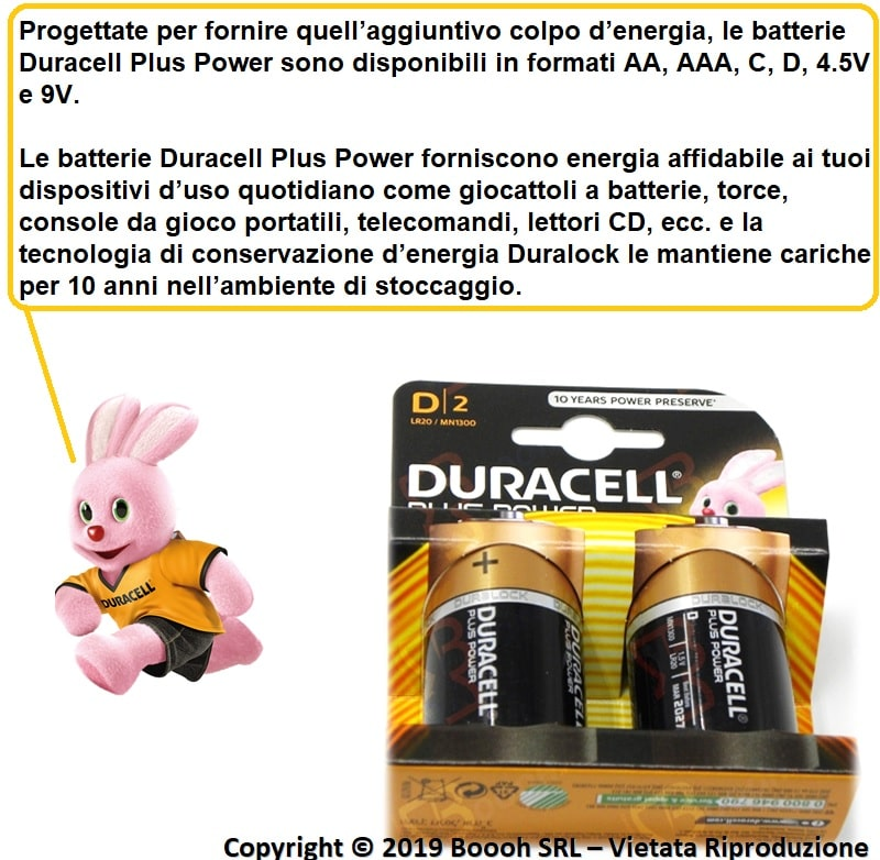 BATTERIE ALCALINE PLUS POWER D - BANNER DESCRIZIONE