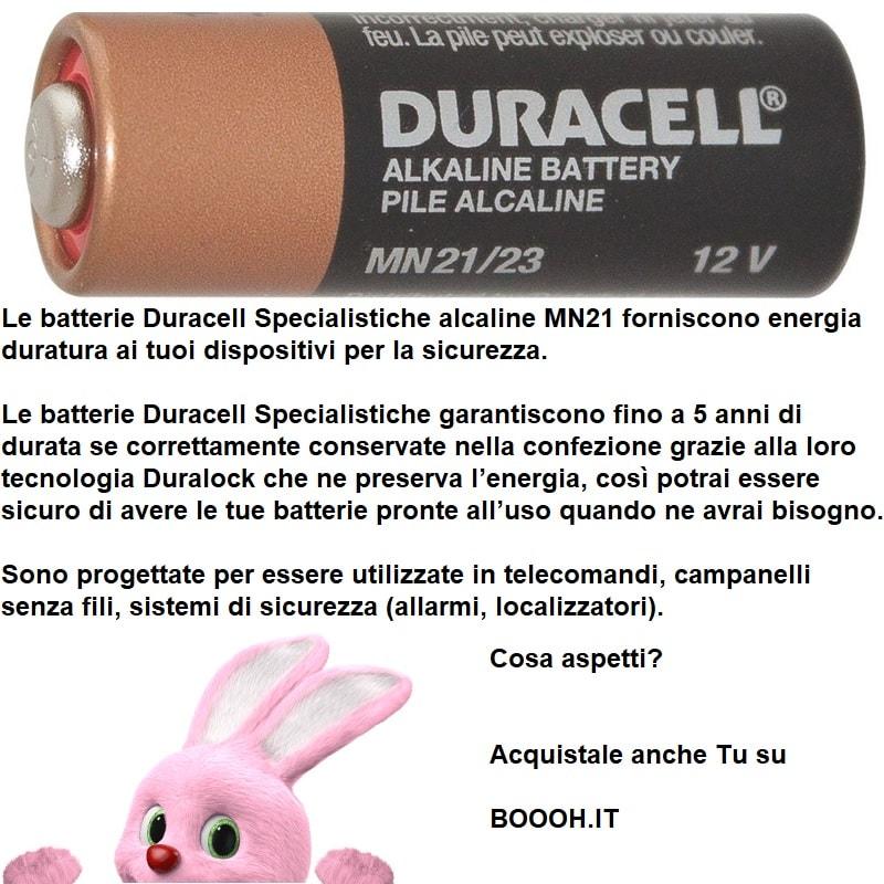 BATTERIE DURACELL SPECIALISTICHE ALCALINE MN21 DA 12V - descrizione banner inserzione