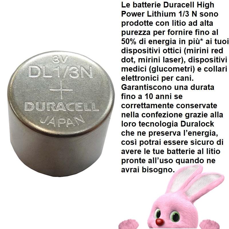 DURACELL 1 3N HIGH POWER LITHIUM 3V - BLISTER DA 1 BATTERIA - BANNER DESCRIZIONE