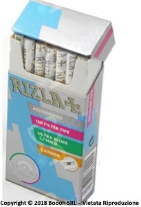 RIZLA FILTRI CARBONI ATTIVI ULTRA SLIM 5,7MM CARBON FILTER - 1 ASTUCCIO DA 120 FILTRI