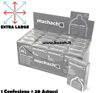 PRESERVATIVI EXTRA LARGE MUCHACHO - ASTUCCIO DA 6 PROFILATTICI XL IN VENDITA SU BOOOH.IT foooter