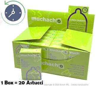 PRESERVATIVI RITARDANTI MUCHACHO - LUNGA DURATA -  ASTUCCIO DA 6 PROFILATTICI in vendita su Boooh.it footer