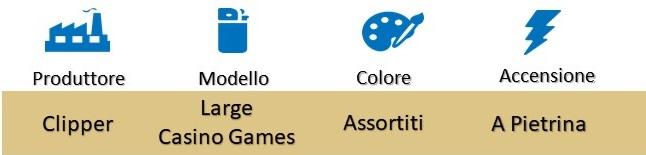 Icona Clipper Large Casino Games Accendini su Boooh.it