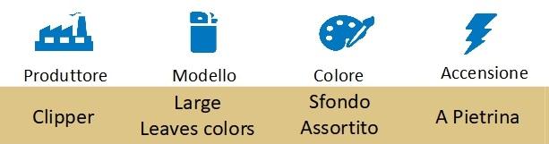 Icona Clipper accendini leaves colors sfusi su boooh.it