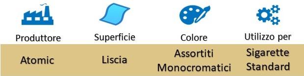 Icona Atomic Copripacchetto Plastica Rigida Apertura a Pressione Colori Assortiti su Boooh.it