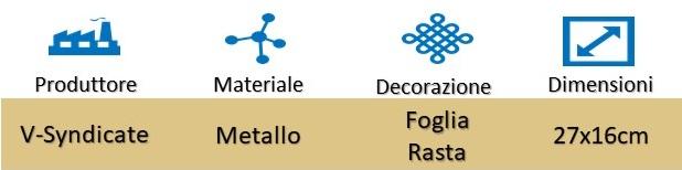 Icona V-Syndicate Vassoio per Rollaggio Foglia Rasta su Boooh.it