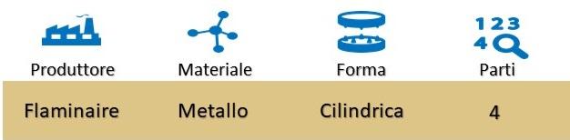 Icona Flaminaire Grinder Cilindro 4 Parti su Boooh.it