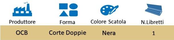 Icona OCB Cartina Corta Doppia Nere Premium su Boooh.it
