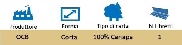 Icona OCB Cartine Organic Corte Singole Canapa su Boooh.it