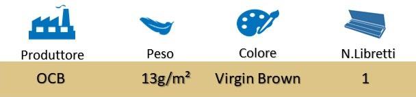 Icona OCB Cartine Corte Singole Virgin Brown su Boooh.it
