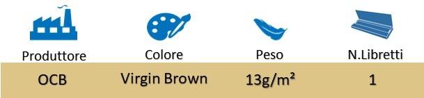 Icona OCB Cartine KS Slim Virgin Brown + Filtri in Carta su Boooh.it