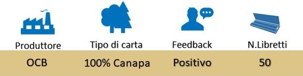 Icona OCB Cartine Slim Organic Canapa Bio su Boooh.it