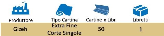 Icona Gizeh Cartine Special Extra Fine Corte Singole su Boooh.it